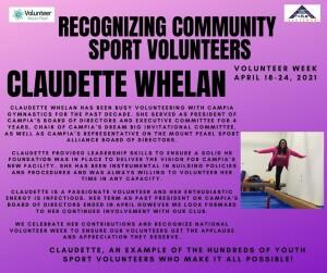 Volunteer Week 2021 - Claudette Whelan