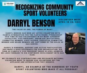 Volunteer Week 2021 - Darryl Benson