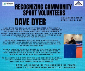 Volunteer Week 2021 - Dave Dyer