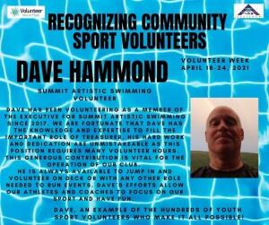 Volunteer Week 2021 - Dave Hammond