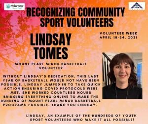 Volunteer Week 2021 - Lindsay Tomes