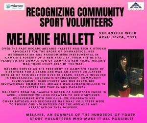 Volunteer Week 2021 - Melanie Hallett